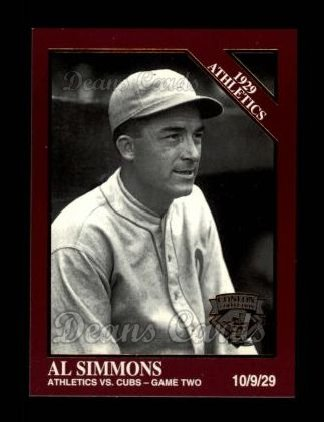 1994 Conlon Burgundy #1136   -  Al Simmons 1929 Athletics