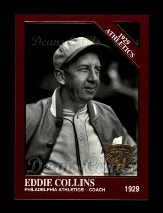 1994 Conlon Burgundy #1142   -  Eddie Collins 1929 Athletics