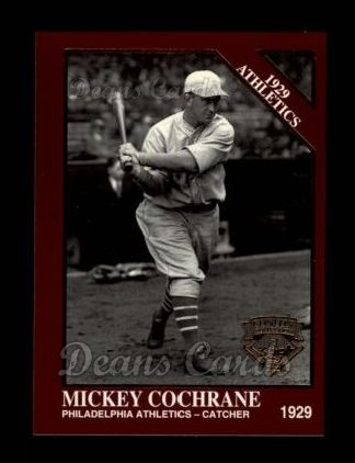 1994 Conlon Burgundy #1146   -  Mickey Cochrane 1929 Athletics