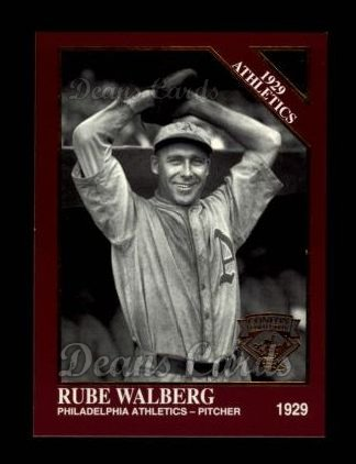 1994 Conlon Burgundy #1151   -  Rube Walberg 1929 Athletics