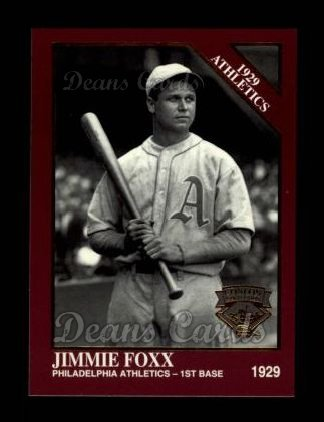 1994 Conlon Burgundy #1152   -  Jimmie Foxx 1929 Athletics