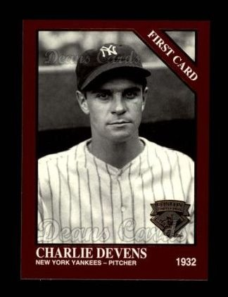 1994 Conlon Burgundy #1284   -  Charlie Devens First Card