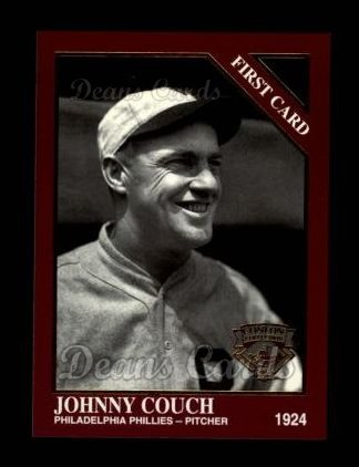1994 Conlon Burgundy #1297   -  Johnny Couch First Card