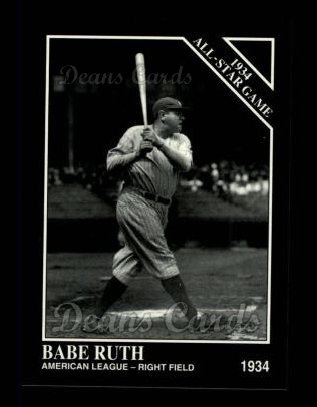 1994 Conlon #1080   -  Babe Ruth 1934 All-Star Game