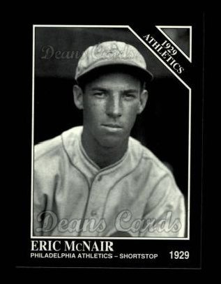 1994 Conlon #1144   -  Eric McNair 1929 Athletics
