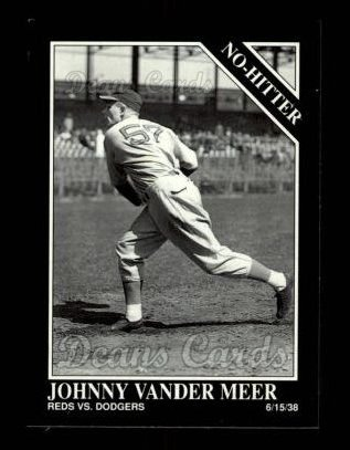 1992 Conlon #368   -  Johnny VanderMeer No-Hitter