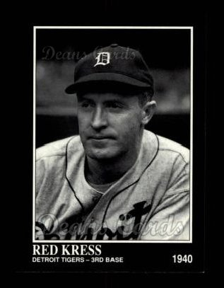 1992 Conlon #383  Red Kress