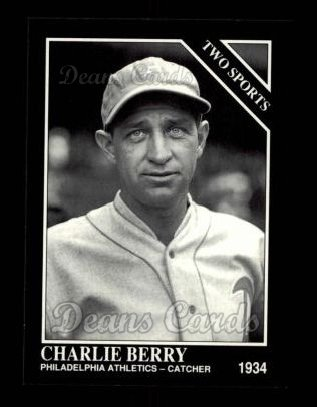 1992 Conlon #398   -  Charlie Berry Two Sports