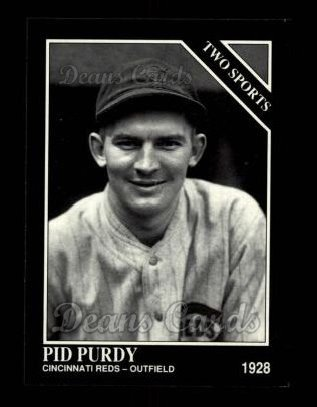 1992 Conlon #406   -  Pid Purdy Two Sports