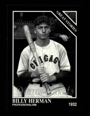 1992 Conlon #421   -  Billy Herman Great Stories