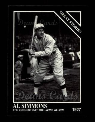 1992 Conlon #423   -  Al Simmons Great Stories