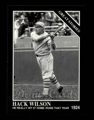 1992 Conlon #424   -  Hack Wilson Great Stories