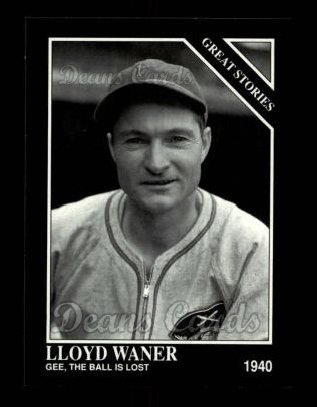 1992 Conlon #429   -  Lloyd Waner Great Stories