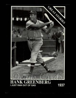 1992 Conlon #430   -  Hank Greenberg Great Stories