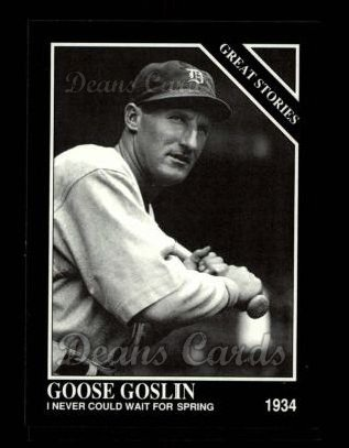 1992 Conlon #437   -  Goose Goslin Great Stories