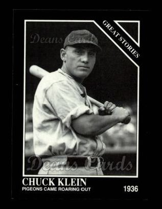 1992 Conlon #438   -  Chuck Klein Great Stories