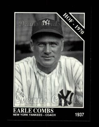1992 Conlon #466   -  Earle Combs Hall-of-Fame