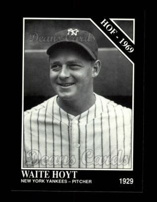 1992 Conlon #468   -  Waite Hoyt Hall-of-Fame