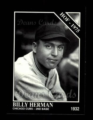 1992 Conlon #473   -  Billy Herman Hall-of-Fame