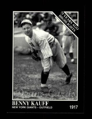 1992 Conlon #484   -  Benny Kauff 1917 Highlights
