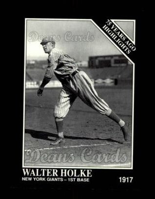 1992 Conlon #491   -  Walter Holke 1917 Highlights