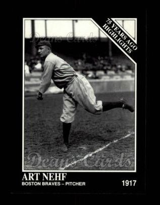 1992 Conlon #492   -  Art Nehf 1917 Highlights