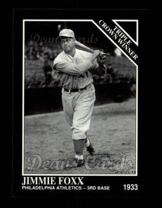 1992 Conlon #526   -  Jimmie Foxx Triple Crown Winners