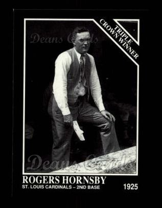 1992 Conlon #527   -  Rogers Hornsby Triple Crown Winners