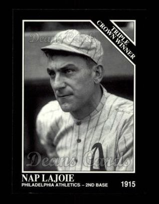 1992 Conlon #528   -  Nap Lajoie Triple Crown Winners