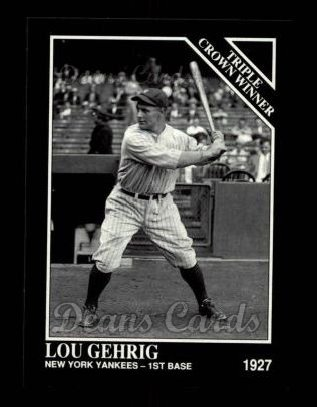 1992 Conlon #529   -  Lou Gehrig Triple Crown Winners
