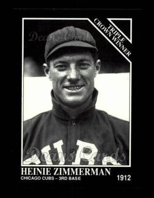 1992 Conlon #530   -  Heinie Zimmerman Triple Crown Winners