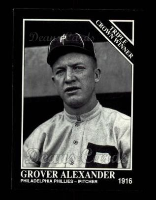 1992 Conlon #534   -  Grover Alexander Triple Crown Winners