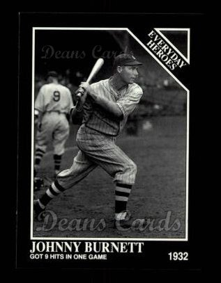 1992 Conlon #543   -  Johnny Burnett Everyday Heroes