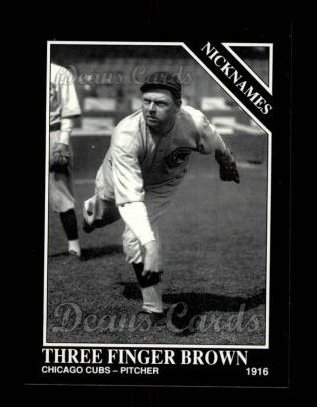 1992 Conlon #555   -  Mordecai Brown Nicknames