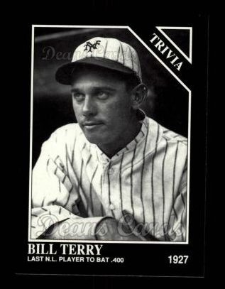 1992 Conlon #588   -  Bill Terry Trivia