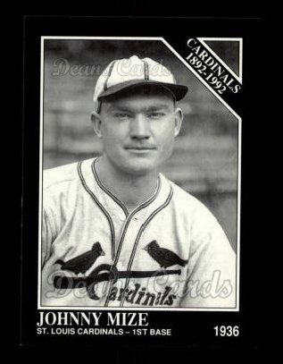 1992 Conlon #628   -  Johnny Mize Cardinals 1982-