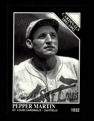 1992 Conlon #637   -  Pepper Martin Cardinals 1982-