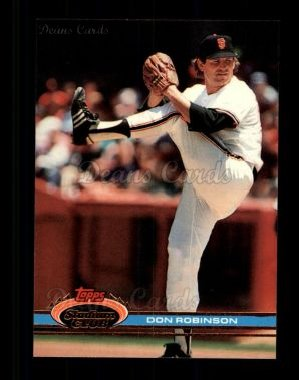 1991 Topps Stadium Club #167  Don Robinson