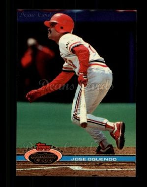 1991 Topps Stadium Club #190  Jose Oquendo