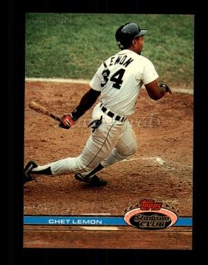 1991 Topps Stadium Club #23  Chet Lemon