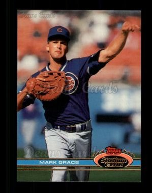 1991 Topps Stadium Club #290  Mark Grace