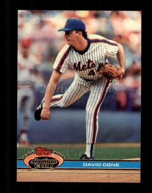 1991 Topps Stadium Club #367  David Cone