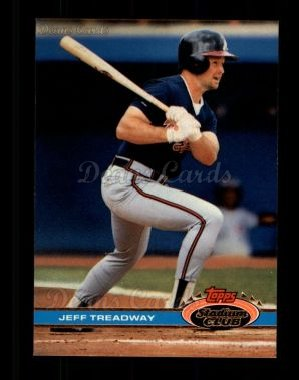 1991 Topps Stadium Club #497  Jeff Treadway