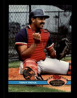 1991 Topps Stadium Club #505  Tony Pena
