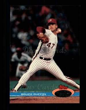 1991 Topps Stadium Club #89  Bruce Ruffin
