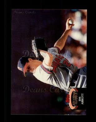 1992 Topps Stadium Club #210  Jim Abbott