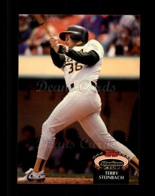 1992 Topps Stadium Club #22  Terry Steinbach