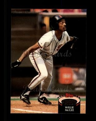 1992 Topps Stadium Club #239  Willie McGee