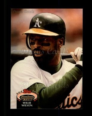 1992 Topps Stadium Club #343  Willie Wilson