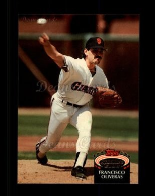 1992 Topps Stadium Club #347  Francisco Oliveras